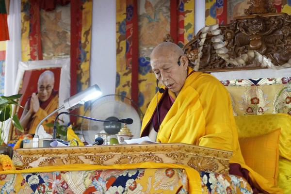 Samdhong Rinpoche In Sera 1