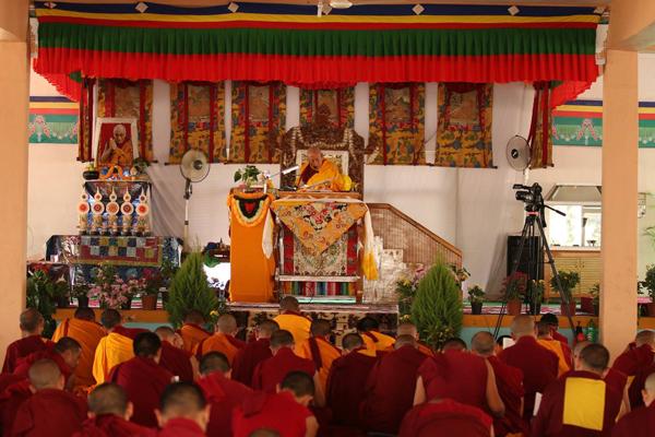 Samdhong Rinpoche In Sera 2